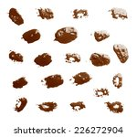 set of multiple oil paint spot... | Shutterstock . vector #226272904
