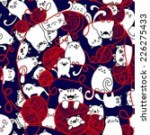 seamless pattern with funny... | Shutterstock .eps vector #226275433