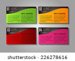 colorful modern text box... | Shutterstock .eps vector #226278616