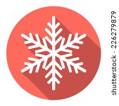 vector flat snowflake with long ... | Shutterstock .eps vector #226279879