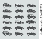 car icons set | Shutterstock .eps vector #226280959