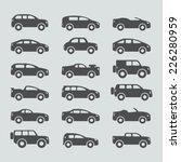 car icons set | Shutterstock .eps vector #226280959