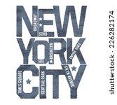 vintage new york typography  t... | Shutterstock .eps vector #226282174