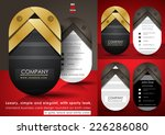 luxury business card design... | Shutterstock .eps vector #226286080
