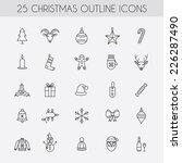christmas outline icons.... | Shutterstock .eps vector #226287490