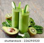healthy drink with ingredients... | Shutterstock . vector #226293520