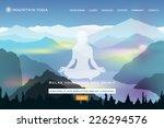 yoga school website landing...