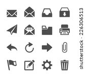 email application icon set ... | Shutterstock .eps vector #226306513