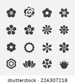flower icon | Shutterstock .eps vector #226307218