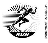 start running. vector... | Shutterstock .eps vector #226308034