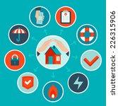 vector house insurance concept...   Shutterstock .eps vector #226315906