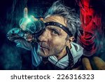 portrait of a crazy medieval... | Shutterstock . vector #226316323