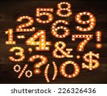 numbers and symbols in retro... | Shutterstock .eps vector #226326436