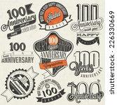 vintage style one hundred... | Shutterstock .eps vector #226330669