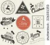 christmas decoration collection ...   Shutterstock .eps vector #226331353