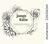 vector wedding invitation card. ... | Shutterstock .eps vector #226336264