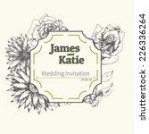 vector wedding invitation card. ... | Shutterstock .eps vector #226336264