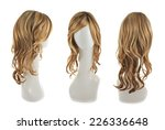 wavy hair wig over the white...   Shutterstock . vector #226336648