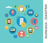 flat icons design for server... | Shutterstock .eps vector #226337464