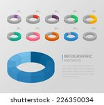 set of colorful 3d circle... | Shutterstock .eps vector #226350034
