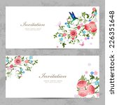 invitation cards with beautiful ... | Shutterstock .eps vector #226351648