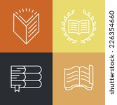 vector set of outline education ... | Shutterstock .eps vector #226354660
