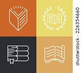 vector set of outline education ... | Shutterstock .eps vector #226354660