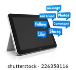 social media and tablet 3d... | Shutterstock . vector #226358116