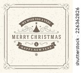 christmas postcard ornament... | Shutterstock .eps vector #226362826
