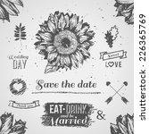 vintage wedding set. vector...   Shutterstock .eps vector #226365769