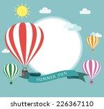 air balloon flying  | Shutterstock .eps vector #226367110