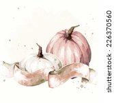 vintage watercolor thanksgiving ... | Shutterstock .eps vector #226370560