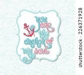 card with handwritten... | Shutterstock .eps vector #226371928