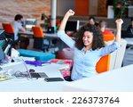 successful business woman... | Shutterstock . vector #226373764
