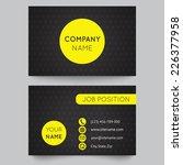 business card template  yellow... | Shutterstock .eps vector #226377958