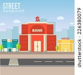 bank building in city space... | Shutterstock .eps vector #226380079