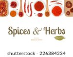 spices and herbs on white... | Shutterstock . vector #226384234