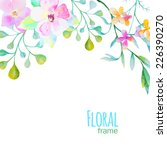 vector frame with watercolor... | Shutterstock .eps vector #226390270