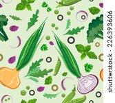 fresh vegetables and greens...   Shutterstock .eps vector #226393606