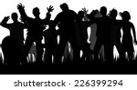 silhouettes of zombies and... | Shutterstock .eps vector #226399294