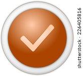authorize button orange | Shutterstock . vector #226405816