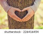 Female Hands Making An Heart...