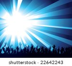 crowd and starburst | Shutterstock .eps vector #22642243