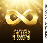 final clearance endless... | Shutterstock .eps vector #226429300