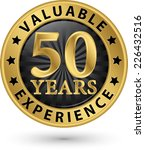 50 years valuable experience... | Shutterstock .eps vector #226432516