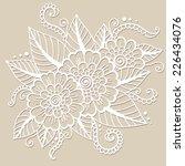 flower vector ornament. | Shutterstock .eps vector #226434076