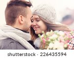 a picture of a romantic couple...   Shutterstock . vector #226435594