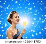party  drinks  winter holidays  ... | Shutterstock . vector #226441750