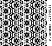 black and white retro abstract...   Shutterstock . vector #226445158
