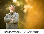 portrait of a senior man... | Shutterstock . vector #226447084